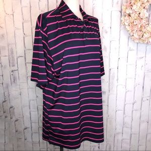 FJ Navy Blue and hot pink polo. Size large